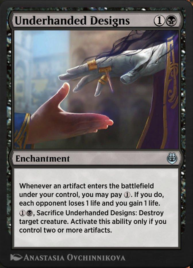 Carta /Underhanded Designs de Magic the Gathering