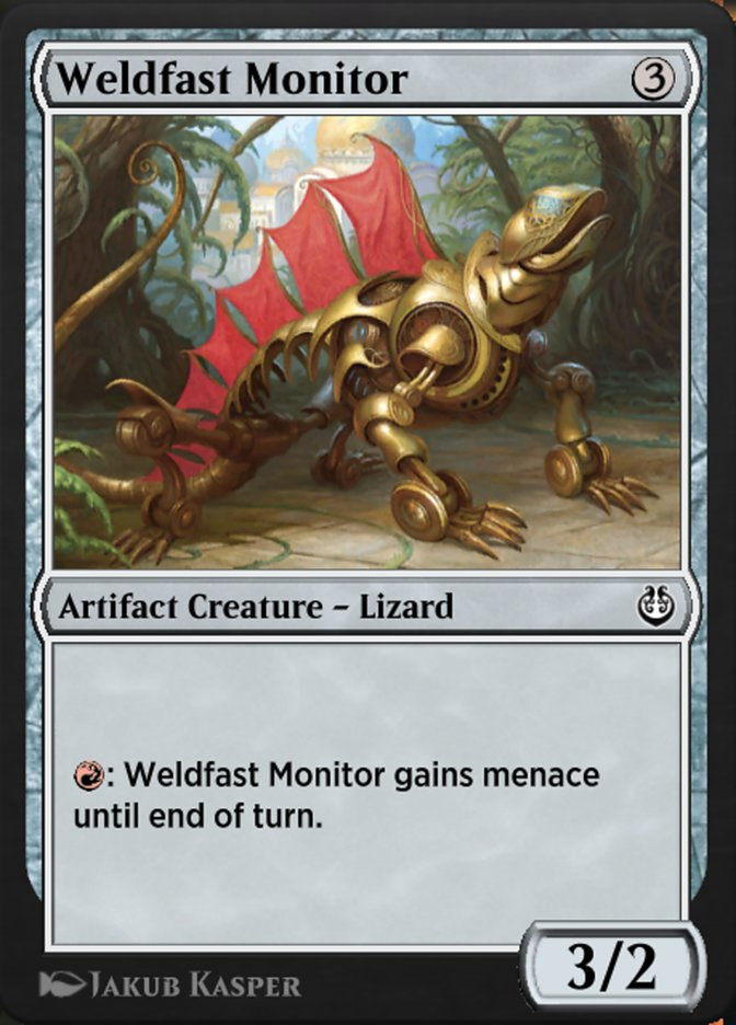 Carta /Weldfast Monitor de Magic the Gathering