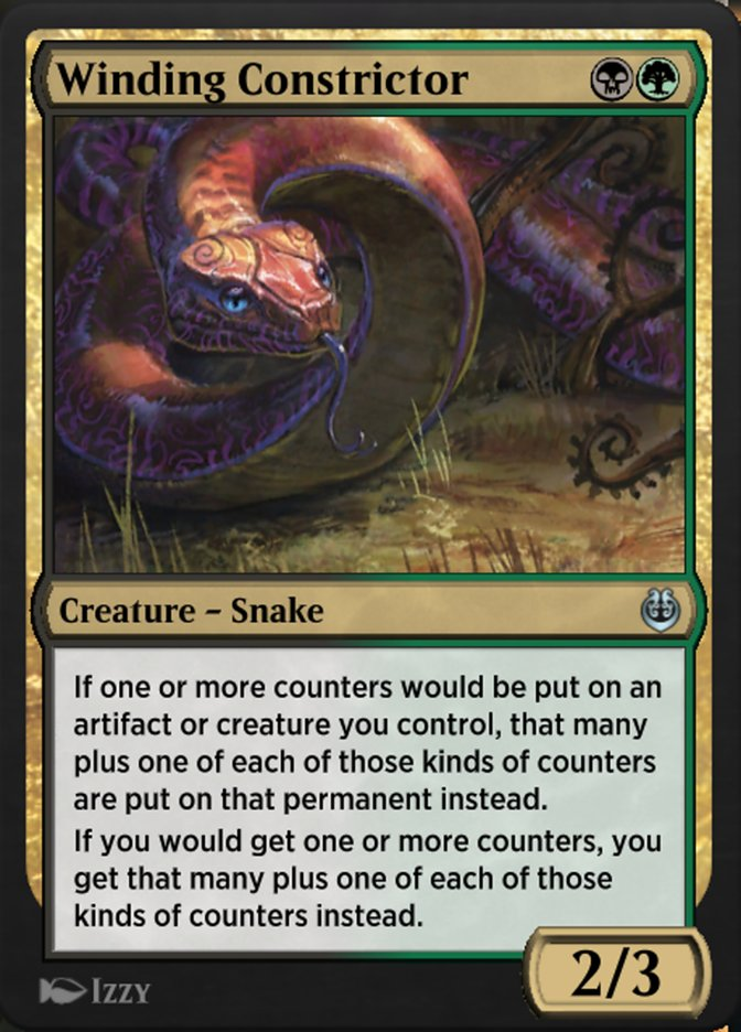 Carta /Winding Constrictor de Magic the Gathering