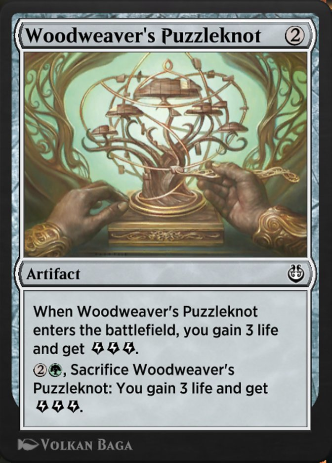 Carta /Woodweaver's Puzzleknot de Magic the Gathering