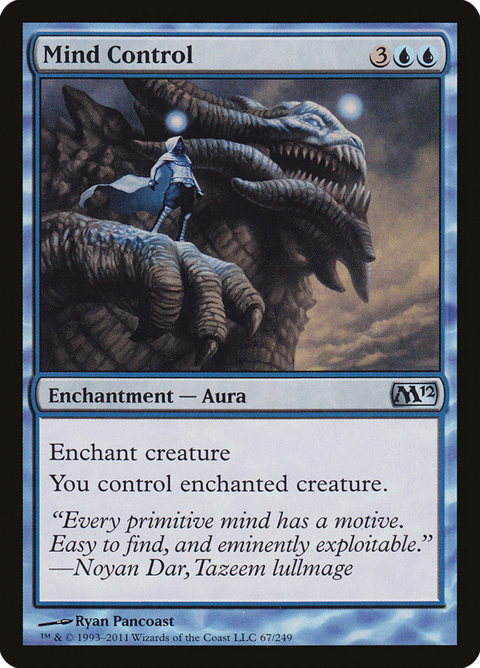 Carta Controle da Mente/Mind Control de Magic the Gathering