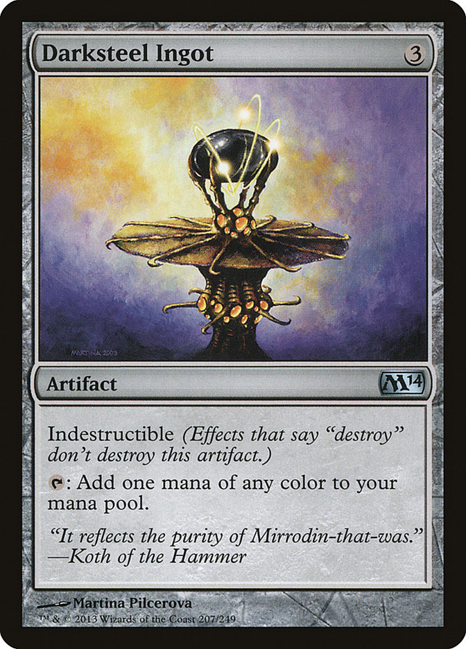 Carta Lingote de Aço Negro/Darksteel Ingot de Magic the Gathering