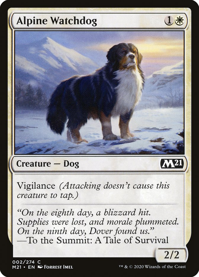 Carta /Alpine Watchdog de Magic the Gathering