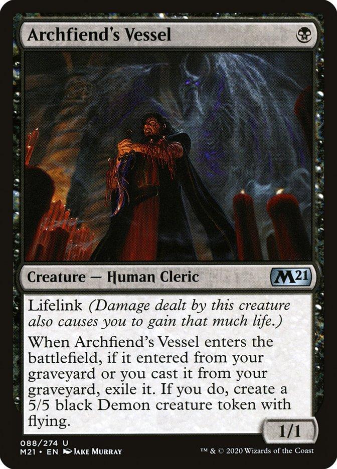 Carta /Archfiend's Vessel de Magic the Gathering