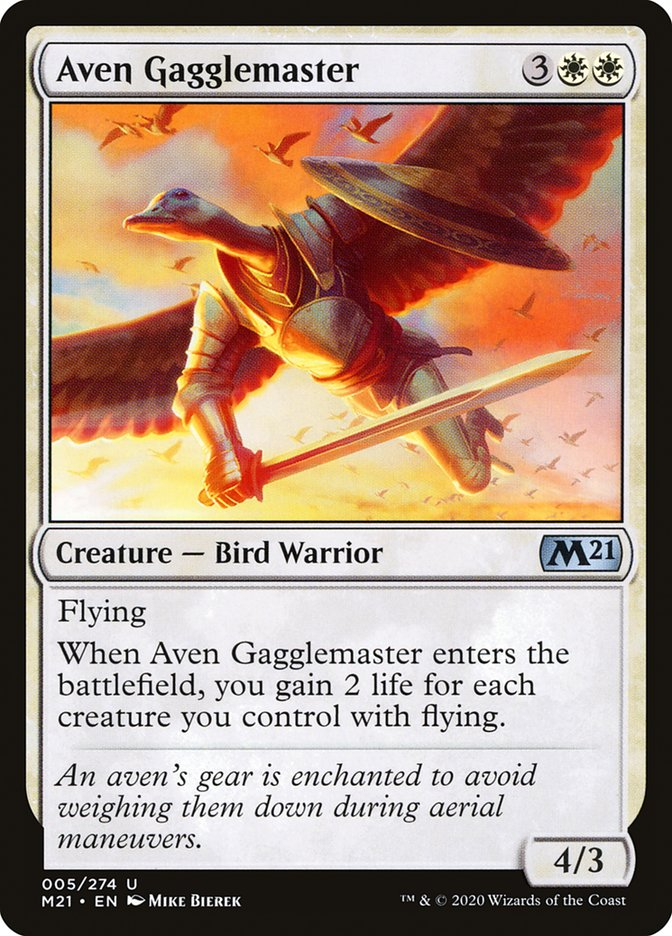 Carta /Aven Gagglemaster de Magic the Gathering