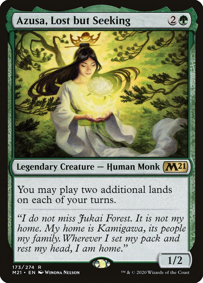 Carta /Azusa, Lost but Seeking de Magic the Gathering