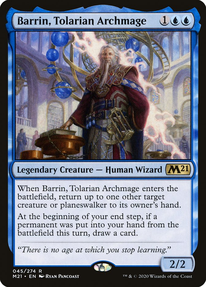 Carta /Barrin, Tolarian Archmage de Magic the Gathering