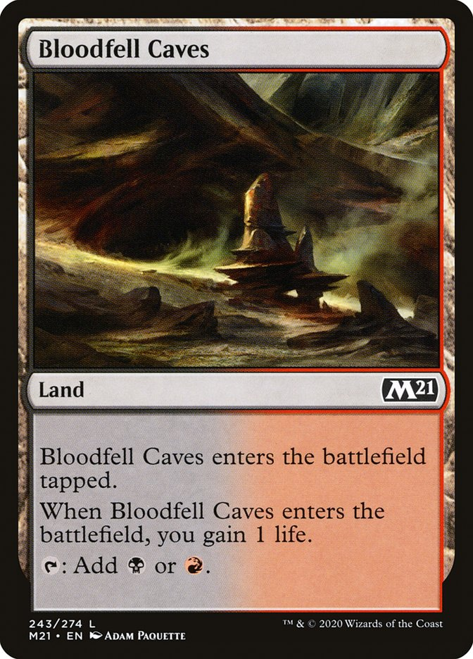 Carta /Bloodfell Caves de Magic the Gathering