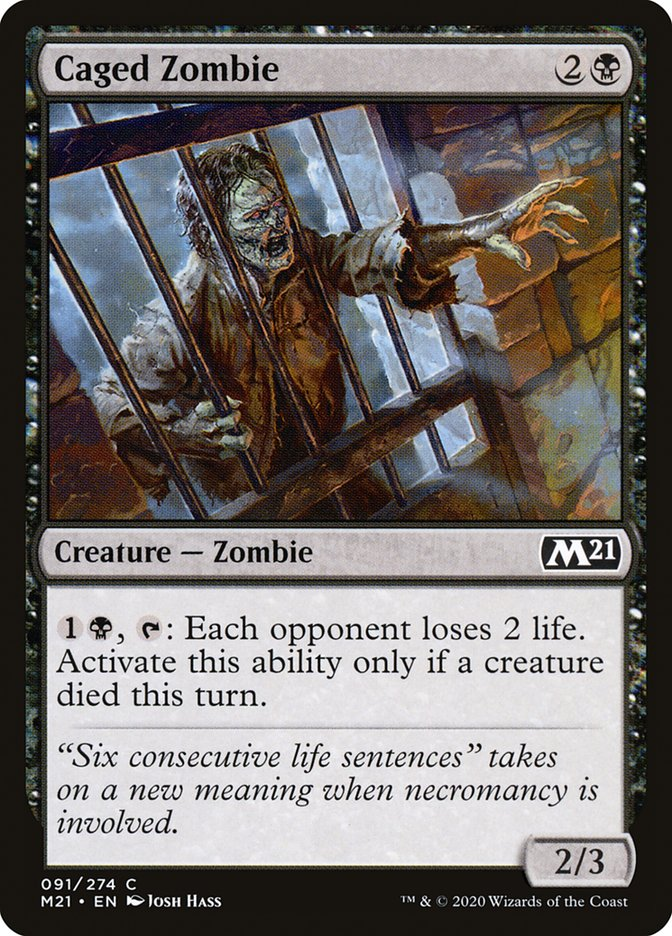 Carta /Caged Zombie de Magic the Gathering