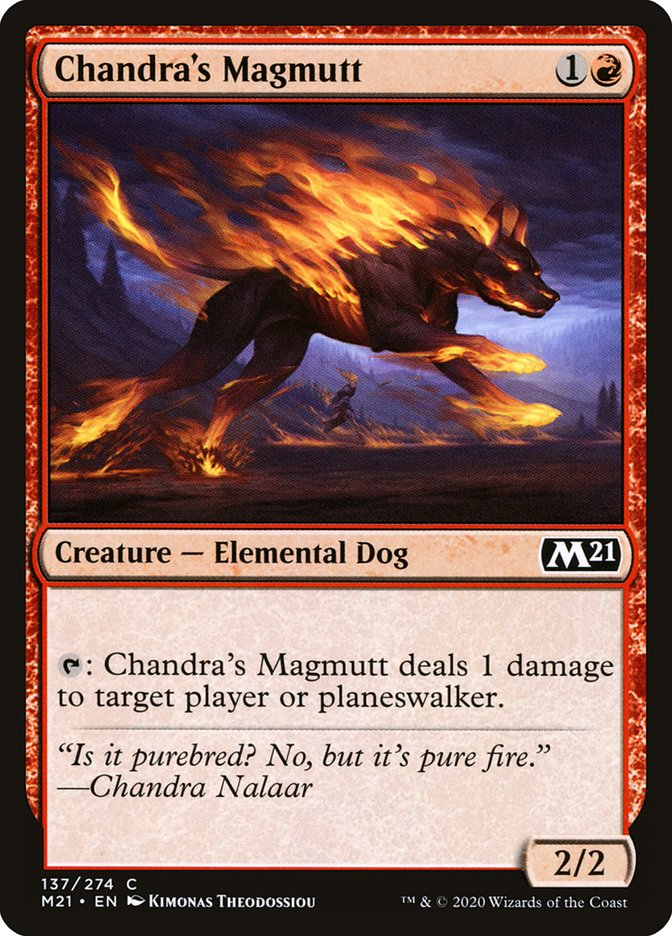 Carta /Chandra's Magmutt de Magic the Gathering