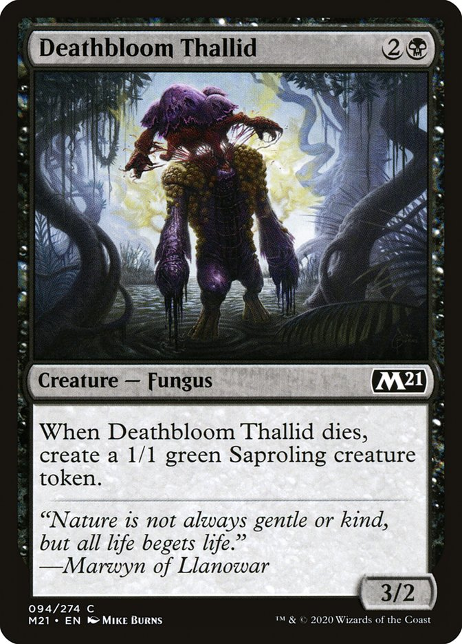 Carta /Deathbloom Thallid de Magic the Gathering