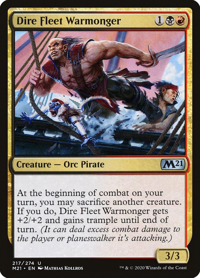 Carta /Dire Fleet Warmonger de Magic the Gathering