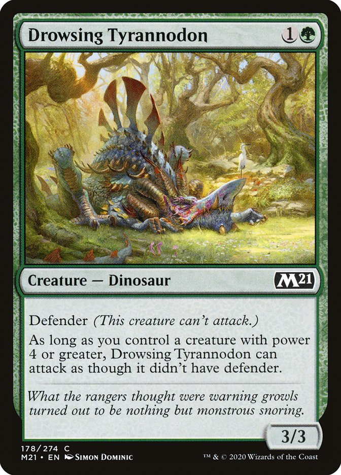 Carta /Drowsing Tyrannodon de Magic the Gathering