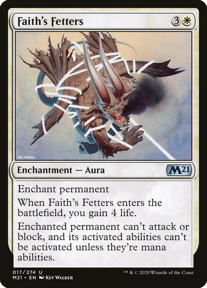 Carta /Faith's Fetters de Magic the Gathering