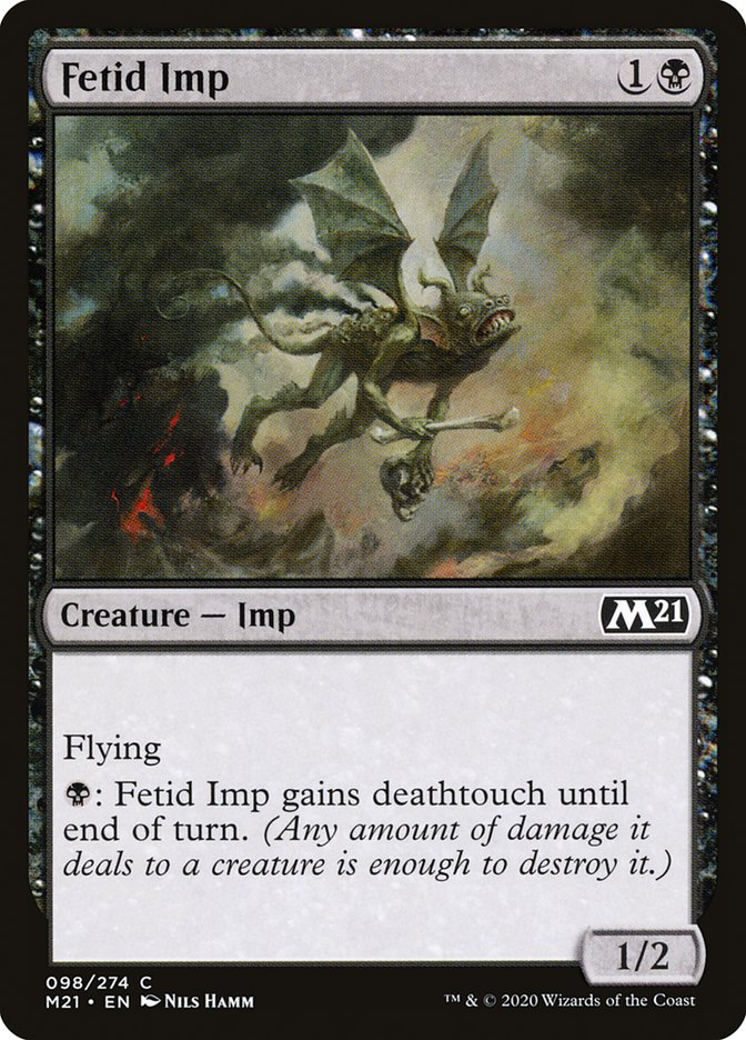 Carta /Fetid Imp de Magic the Gathering