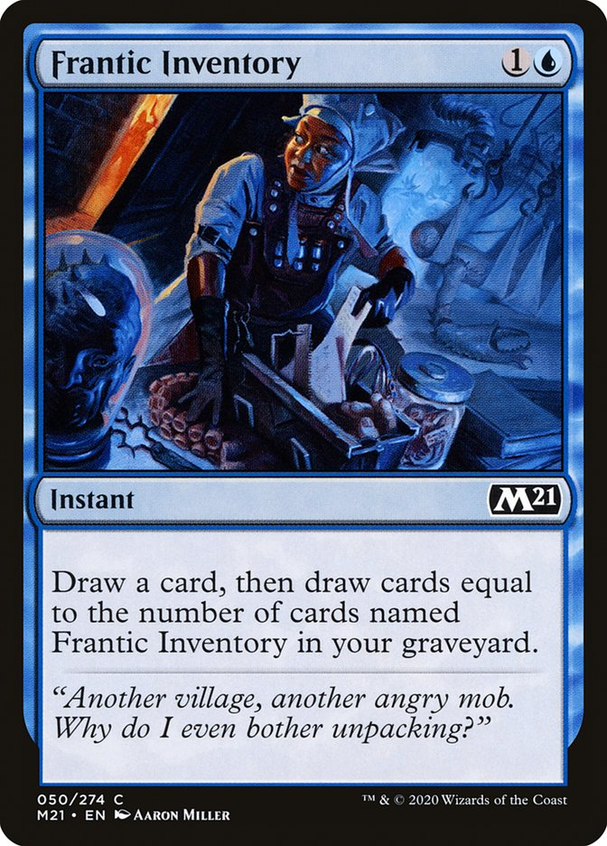 Carta /Frantic Inventory de Magic the Gathering