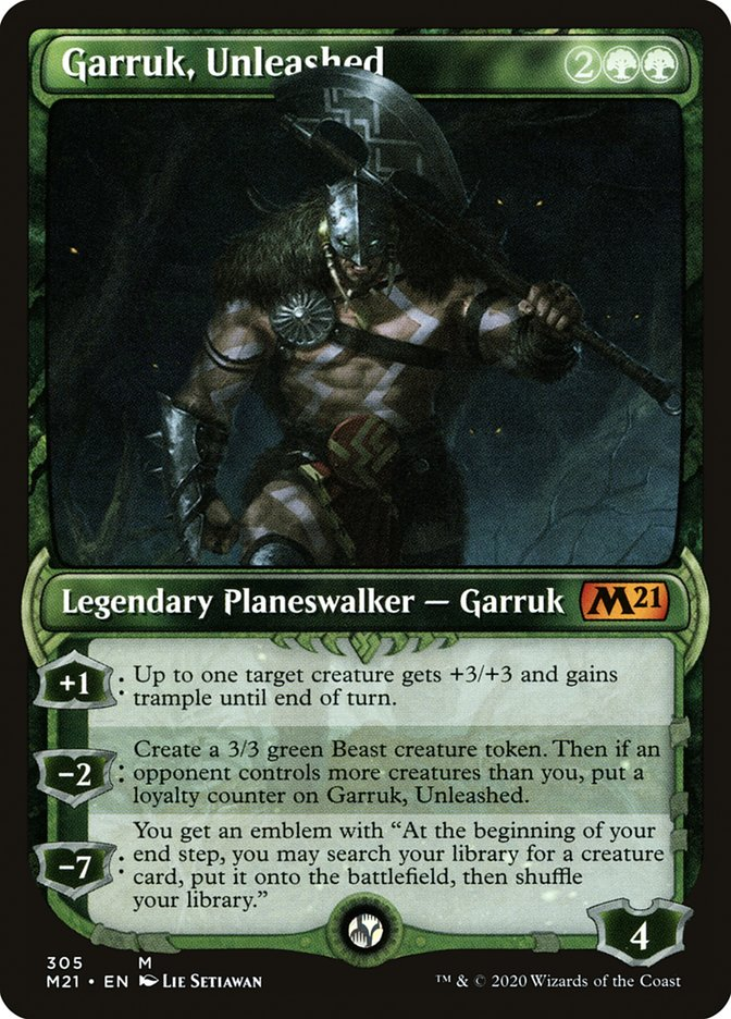 Carta /Garruk, Unleashed de Magic the Gathering