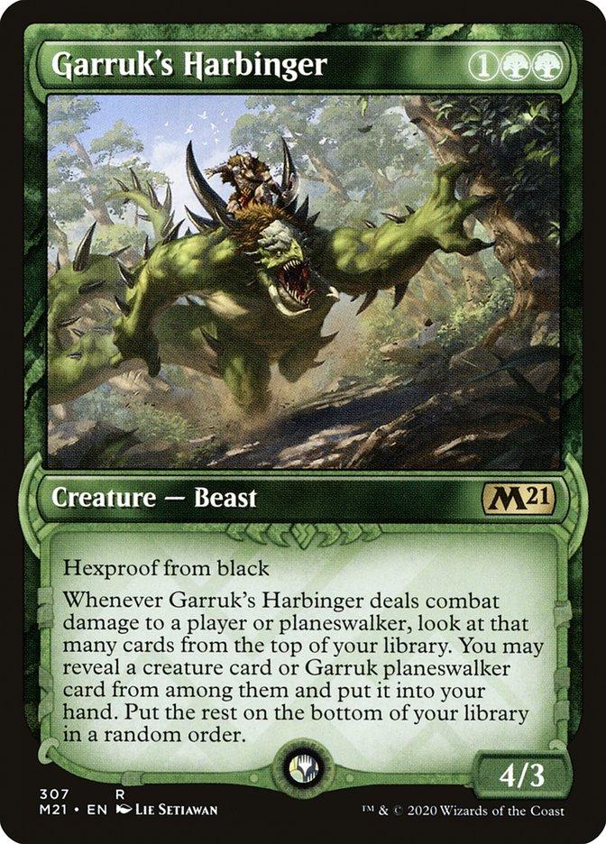 Carta /Garruk's Harbinger de Magic the Gathering