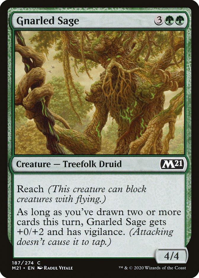 Carta /Gnarled Sage de Magic the Gathering