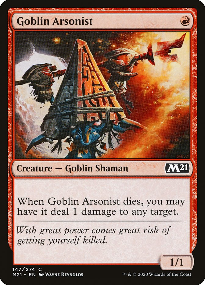 Carta /Goblin Arsonist de Magic the Gathering