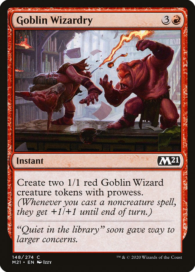 Carta /Goblin Wizardry de Magic the Gathering