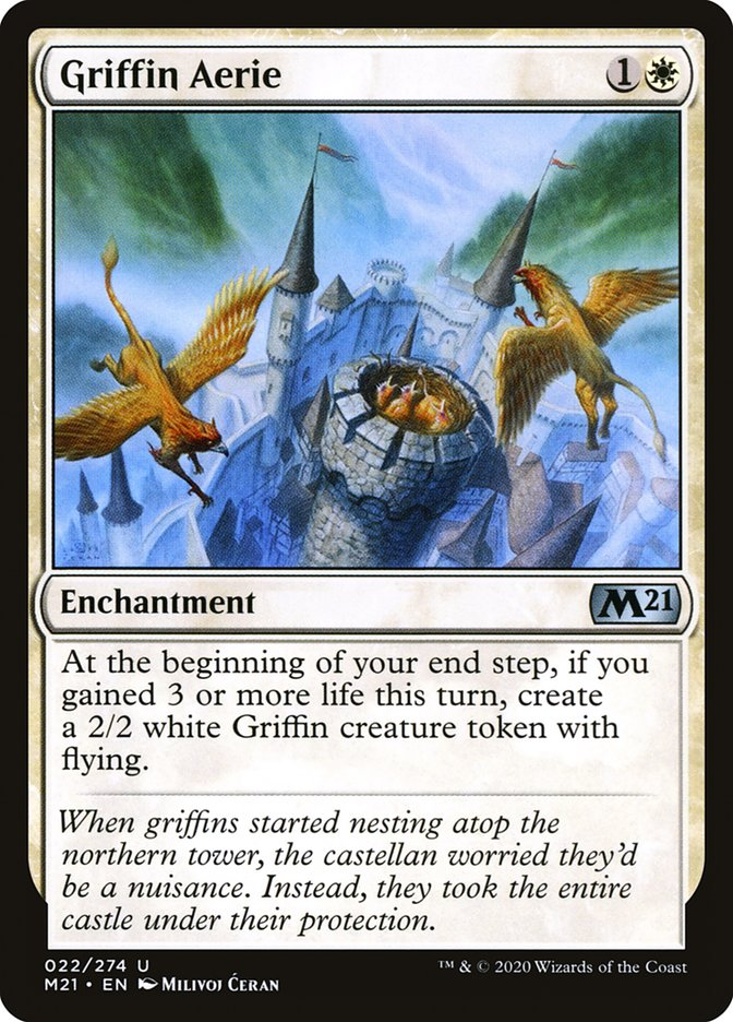 Carta /Griffin Aerie de Magic the Gathering