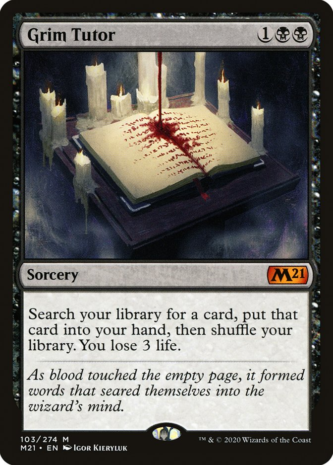 Carta /Grim Tutor de Magic the Gathering