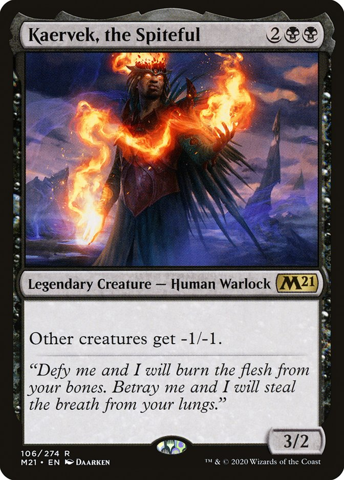 Carta /Kaervek, the Spiteful de Magic the Gathering