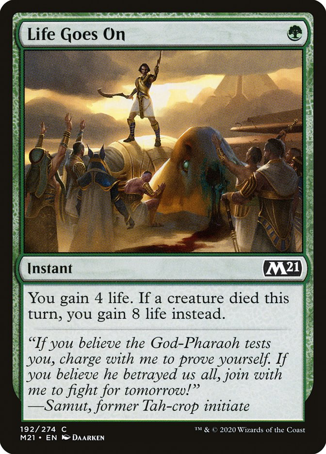 Carta /Life Goes On de Magic the Gathering