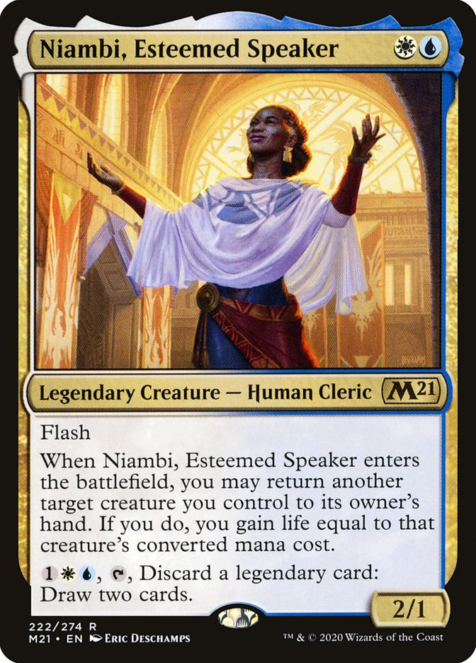 Carta /Niambi, Esteemed Speaker de Magic the Gathering