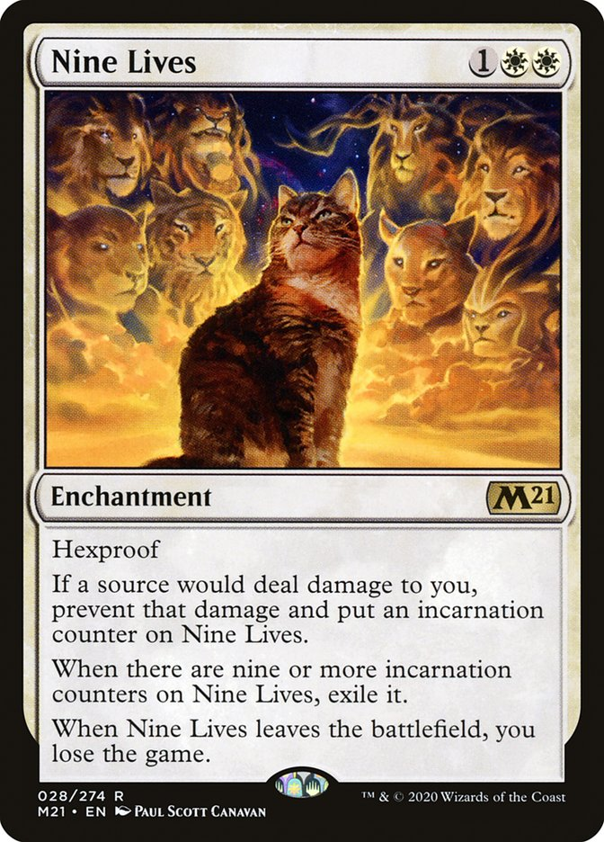 Carta /Nine Lives de Magic the Gathering