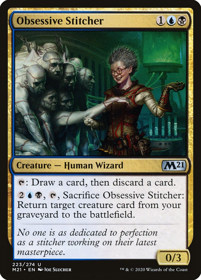 Carta /Obsessive Stitcher de Magic the Gathering