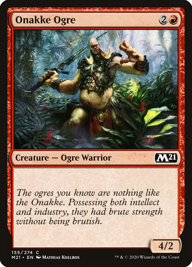 Carta /Onakke Ogre de Magic the Gathering