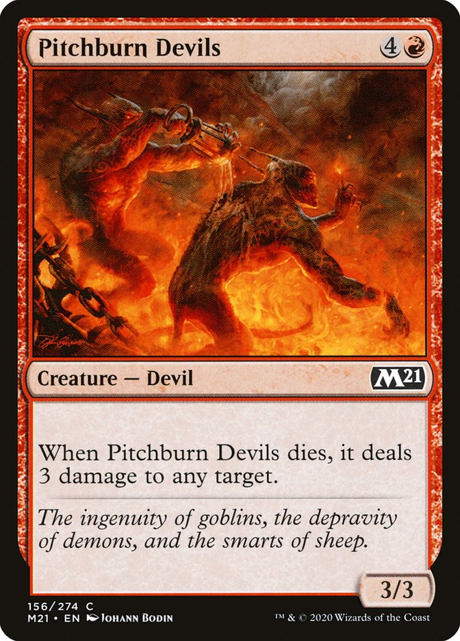 Carta /Pitchburn Devils de Magic the Gathering