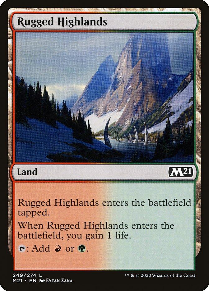 Carta /Rugged Highlands de Magic the Gathering