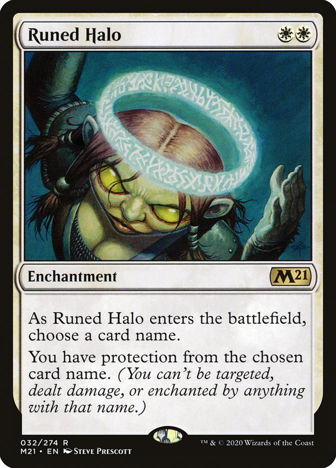 Carta /Runed Halo de Magic the Gathering