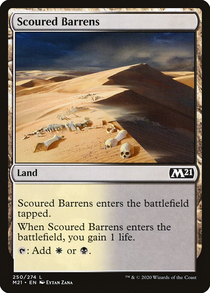 Carta /Scoured Barrens de Magic the Gathering