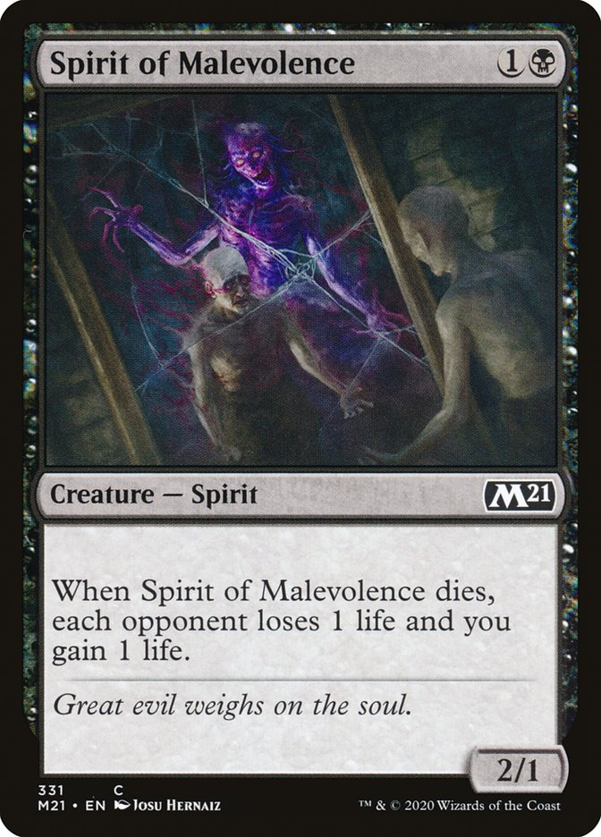 Carta /Spirit of Malevolence de Magic the Gathering
