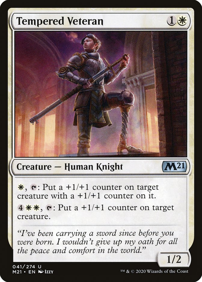 Carta /Tempered Veteran de Magic the Gathering