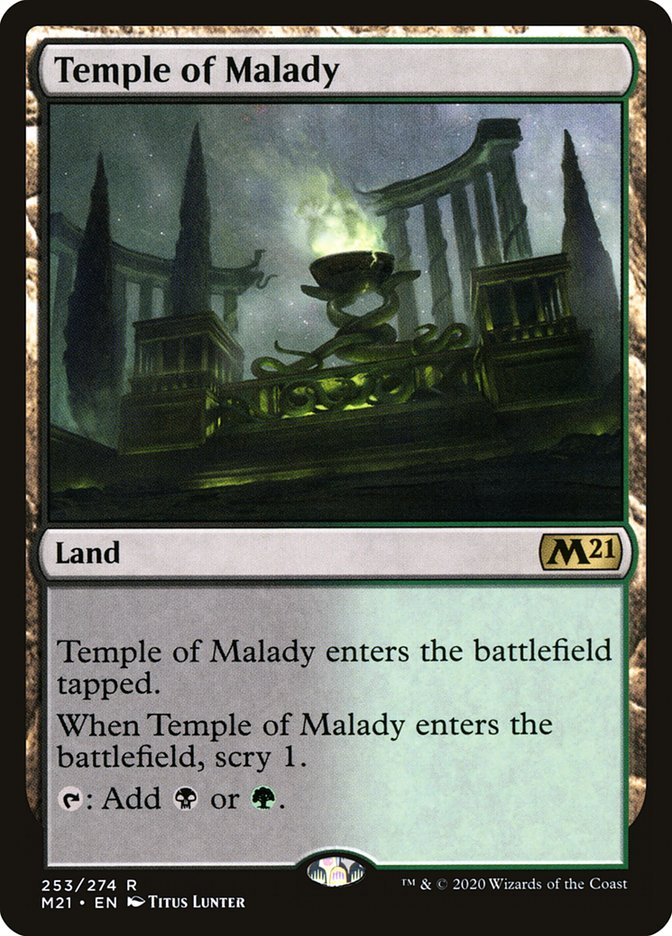 Carta /Temple of Malady de Magic the Gathering
