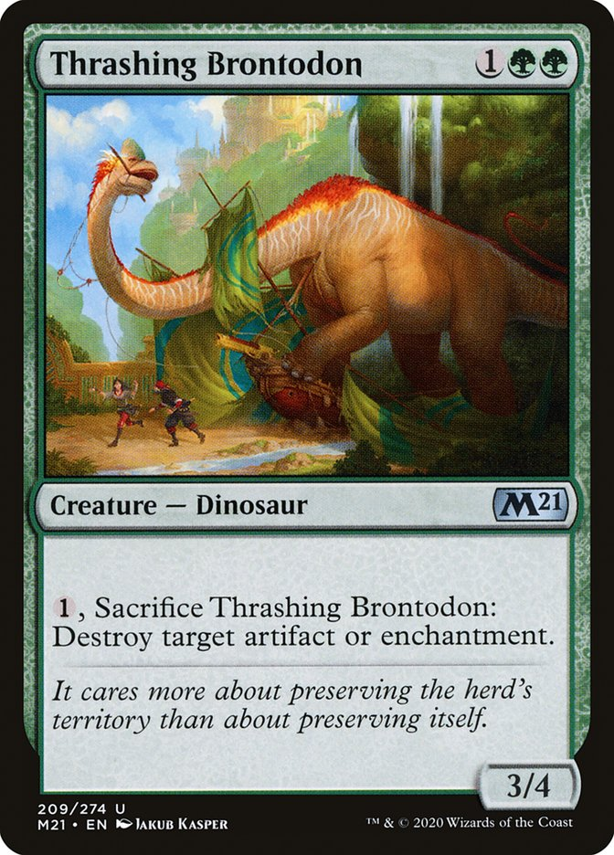 Carta /Thrashing Brontodon de Magic the Gathering