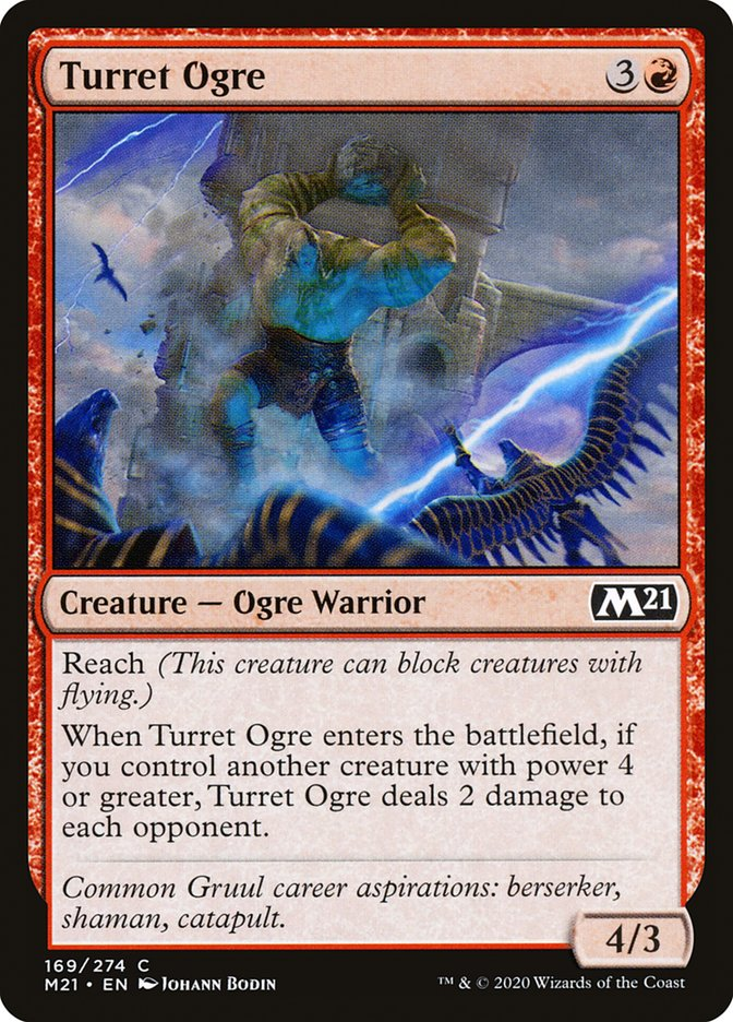 Carta /Turret Ogre de Magic the Gathering