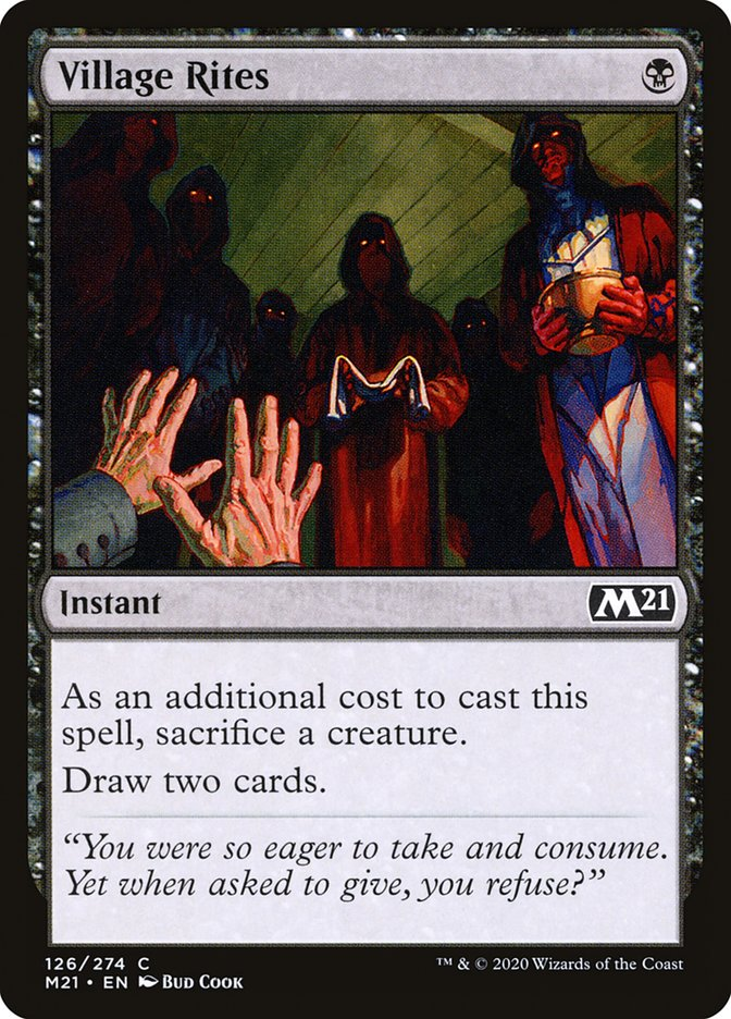 Carta /Village Rites de Magic the Gathering