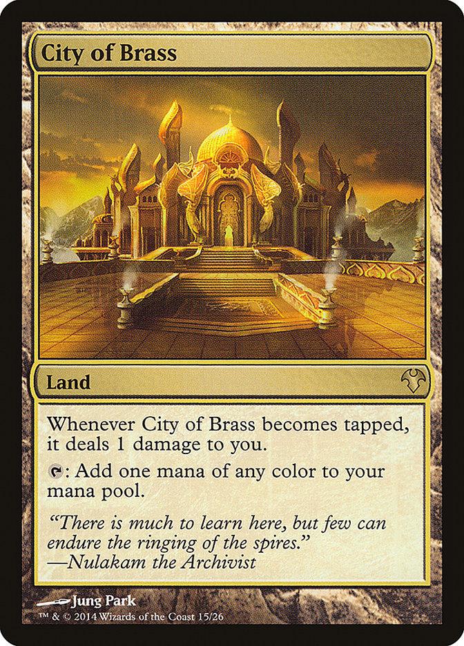 Carta Cidade de Bronze/City of Brass de Magic the Gathering