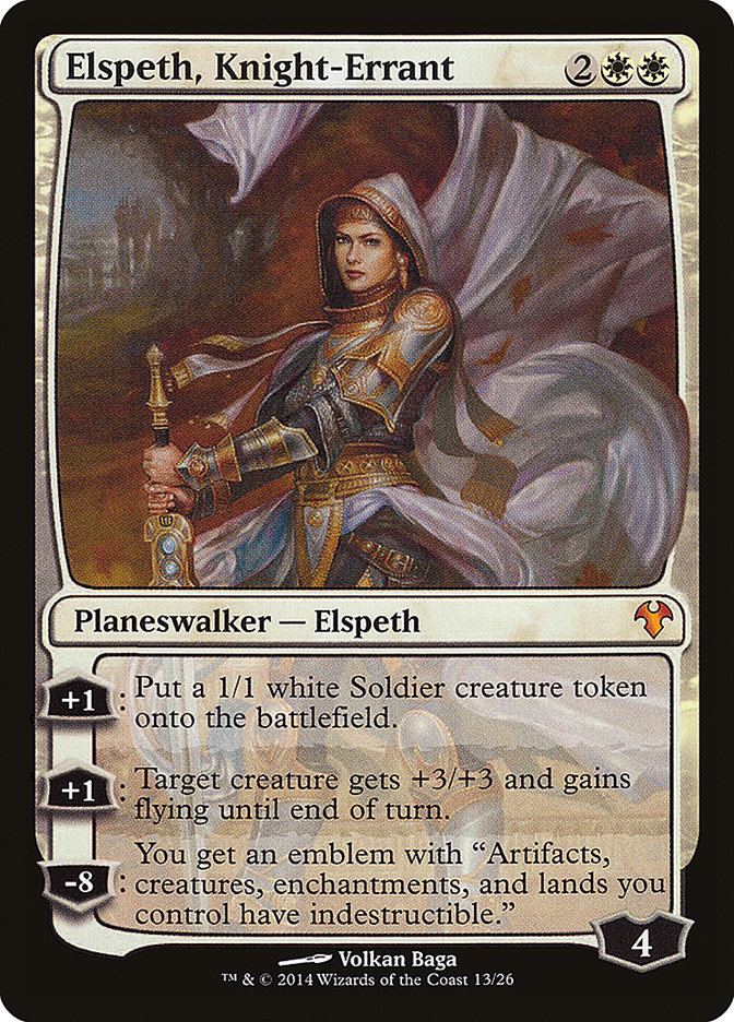 Carta Elspeth, Cavaleira Errante/Elspeth, Knight-Errant de Magic the Gathering