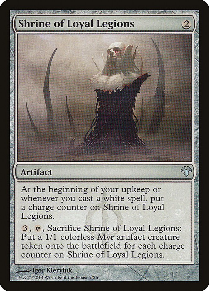Carta Santuário das Legiões Leais/Shrine of Loyal Legions de Magic the Gathering