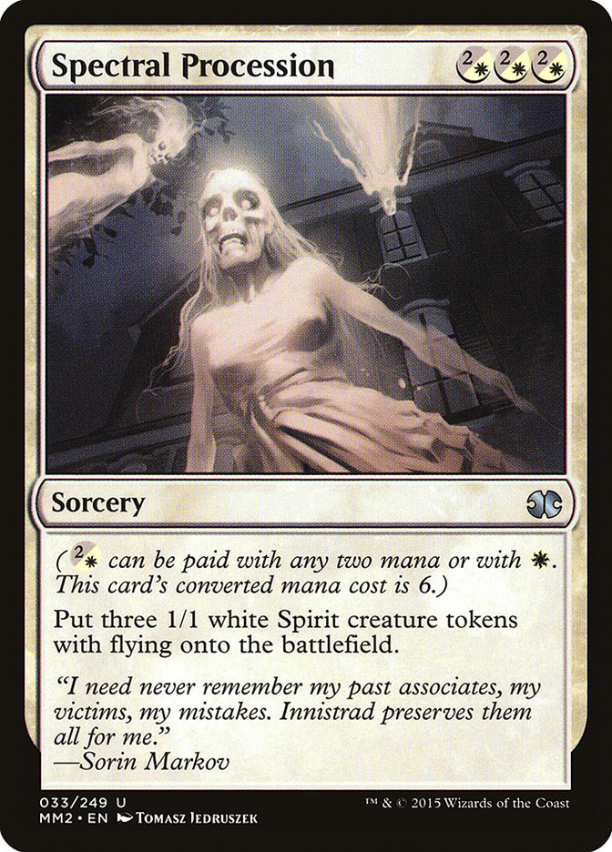 Carta Procissão Espectral/Spectral Procession de Magic the Gathering