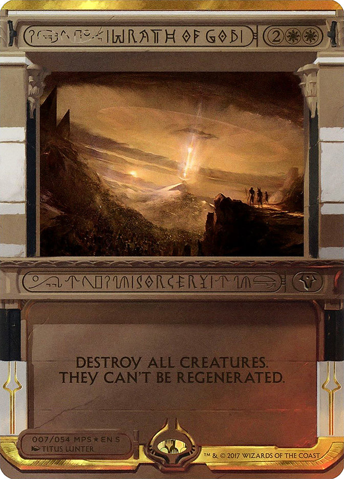 Carta Cólera de Deus/Wrath of God de Magic the Gathering