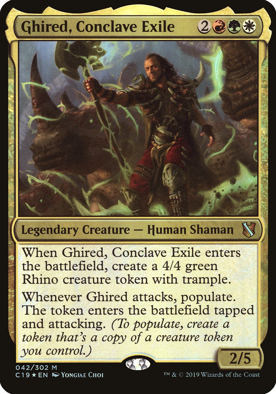 Carta Ghired, Exilado do Conclave/Ghired, Conclave Exile de Magic the Gathering