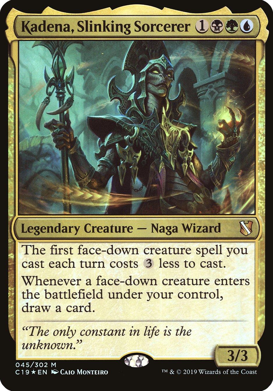 Carta Kadena, Feiticeira Serpentil/Kadena, Slinking Sorcerer de Magic the Gathering